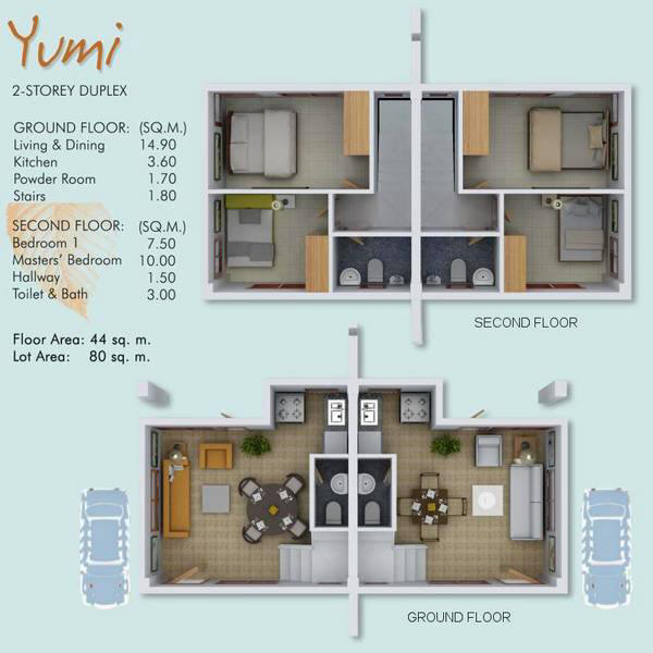 Ajoya house and lots gabi cordova village for 80 square meter house design