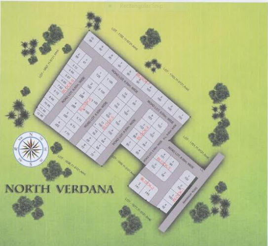 North Verdana map